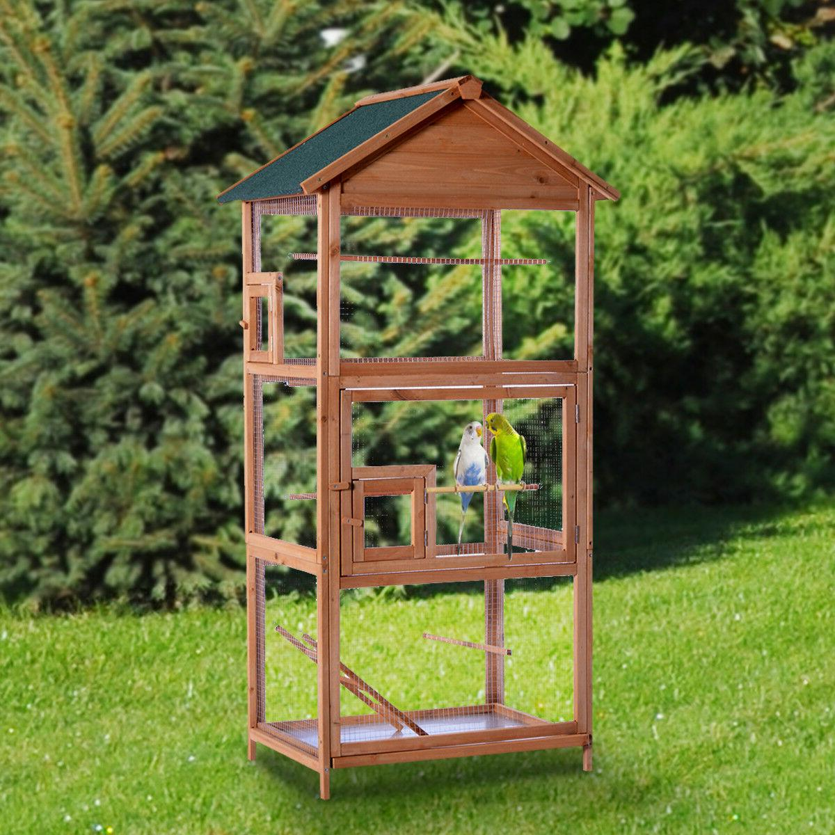 wooden bird cage 70 cockatiel parakeet canary