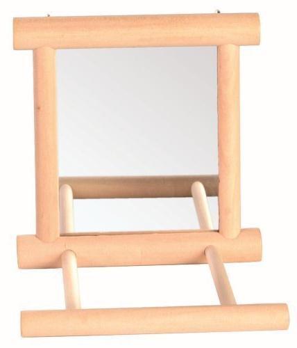 wooden bird mirror