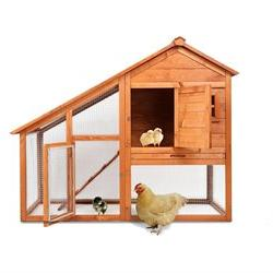 Magshion Wooden Chicken Coop Rabbit Hutch Pet Cage Wood Smal