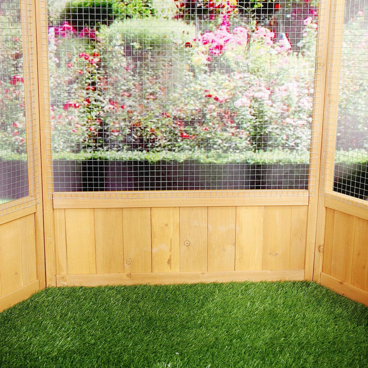 Wooden Cage Aviary Play House Duty