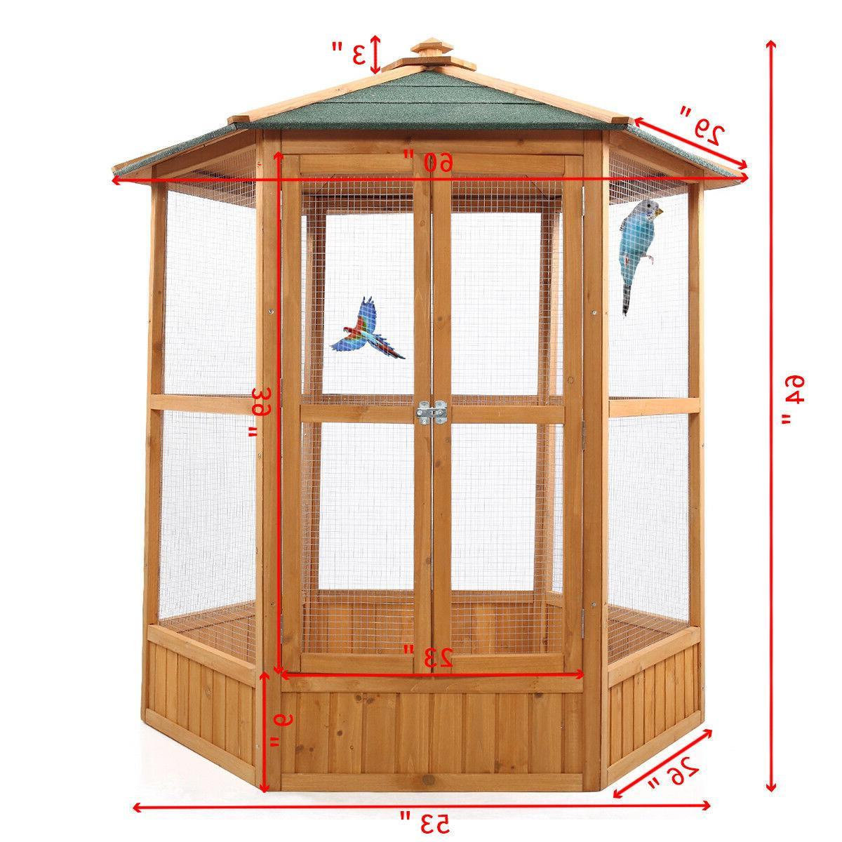 "64"" Wooden Flight House Cage Ideal for Birds Chipmunks Cat"