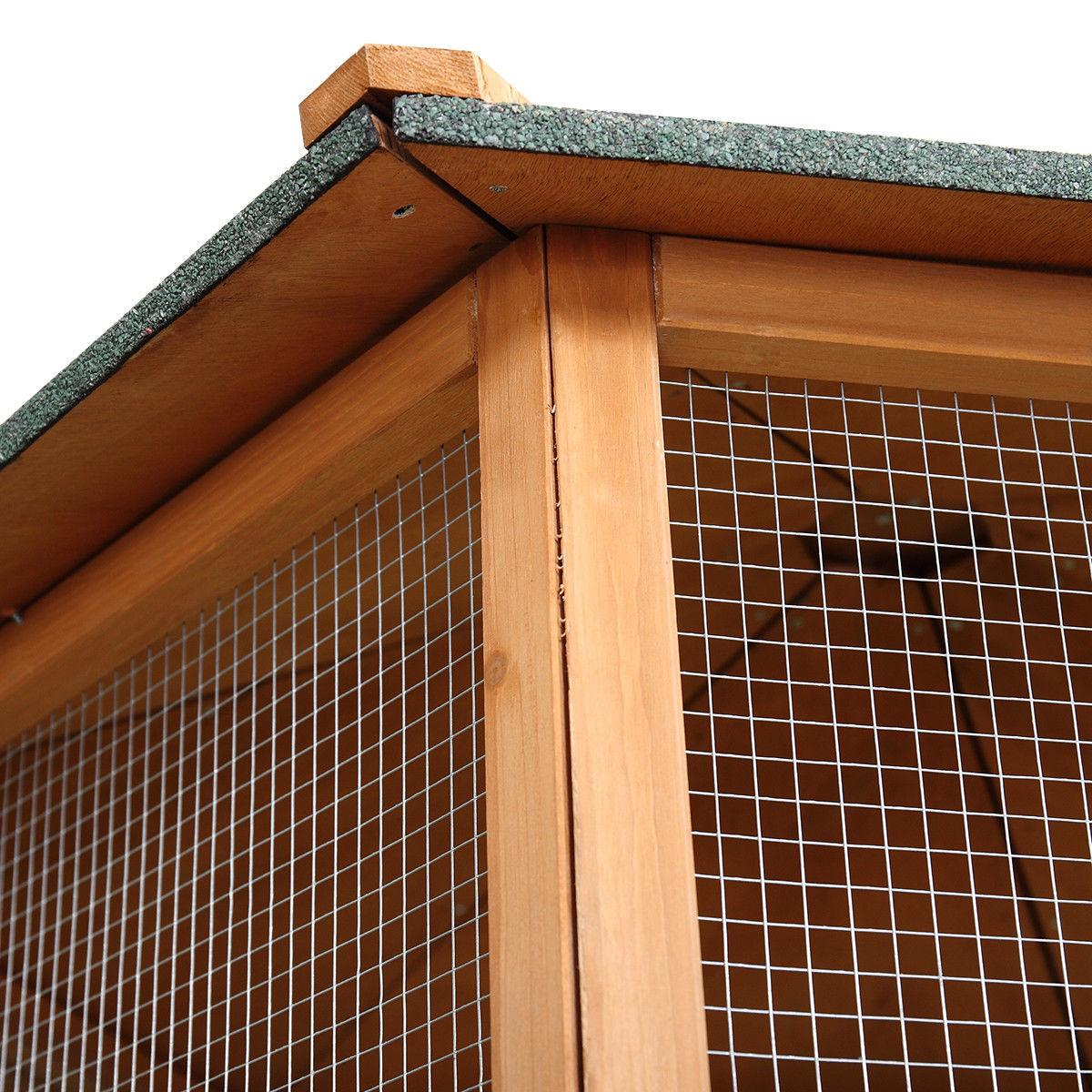 Wooden Cage Aviary Play Top House