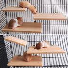 New Wooden Parrot Bird Cage Perches Stand Platform Pet Parak
