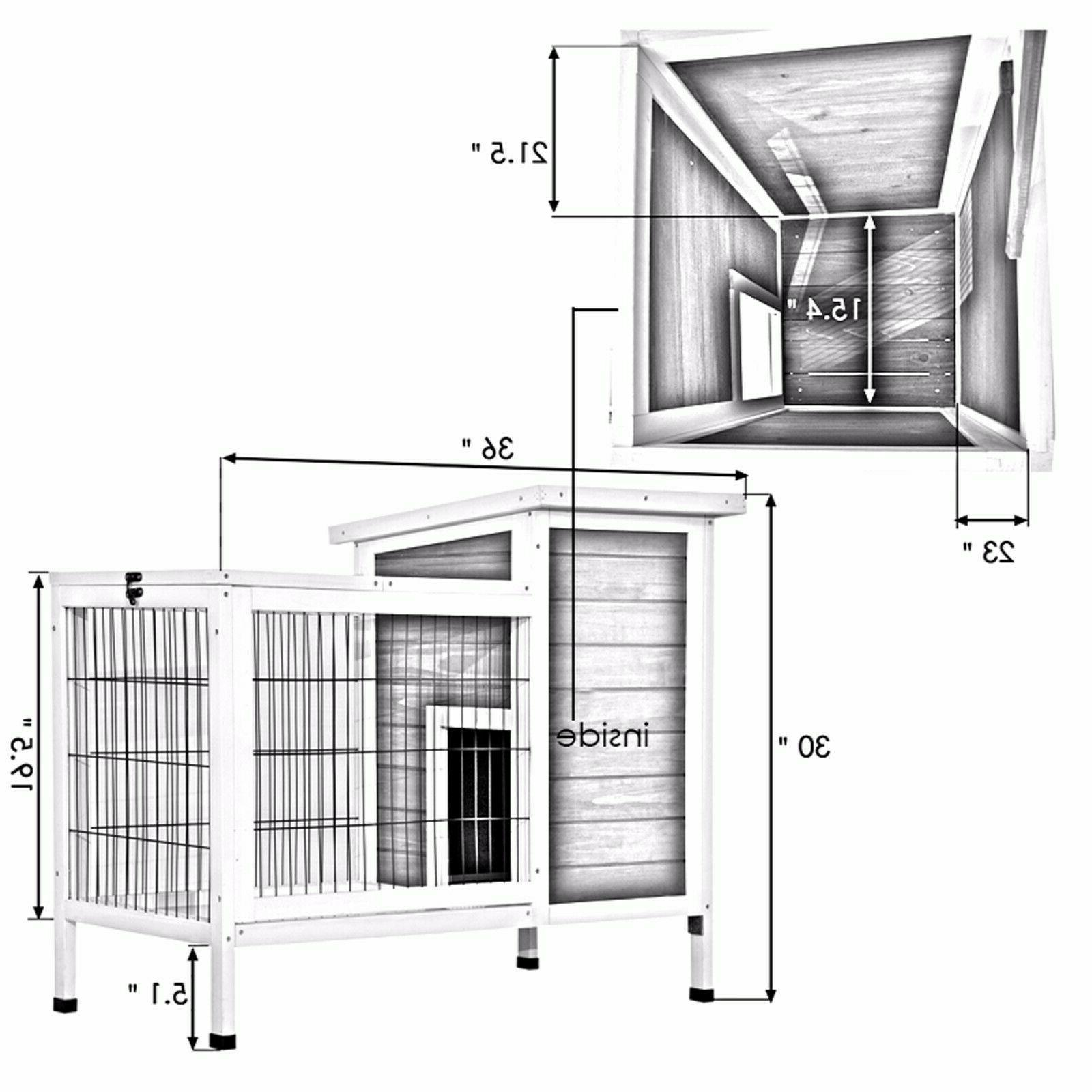 Wooden Hutch Cage for Indoor 1510