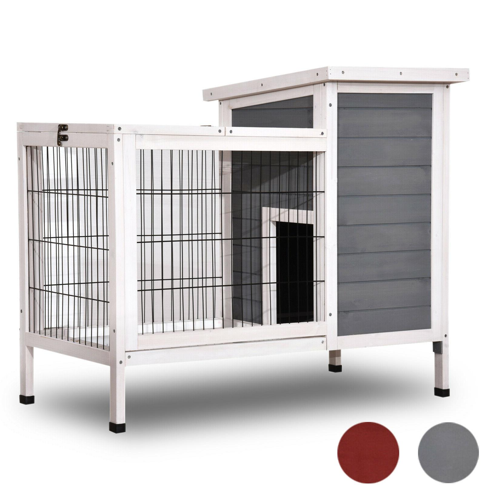 wooden rabbit hutch bunny cage hen house