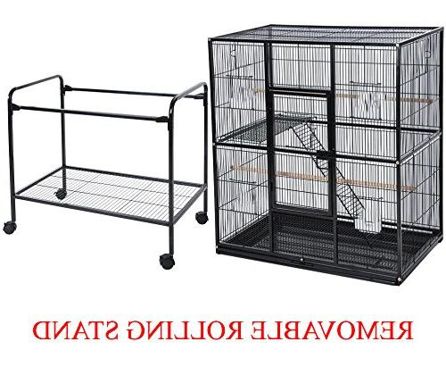 Pet Iron Flight Cage Removable Cage, by 19-Inch
