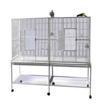 wrought iron double cage w
