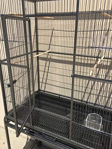 Mcage Large Wrought Flight Canary Cockatiel Cage with 32-Inch by 64-Inch