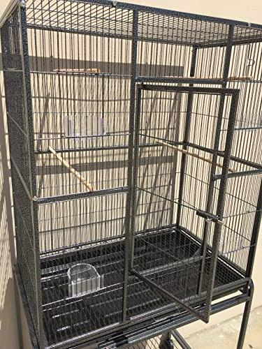 Mcage Flight Cockatiel Cage with Removable Stand, 32-Inch 64-Inch