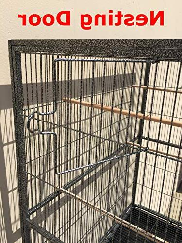 Mcage Flight Parakeet Cockatiel Cage 32-Inch 64-Inch