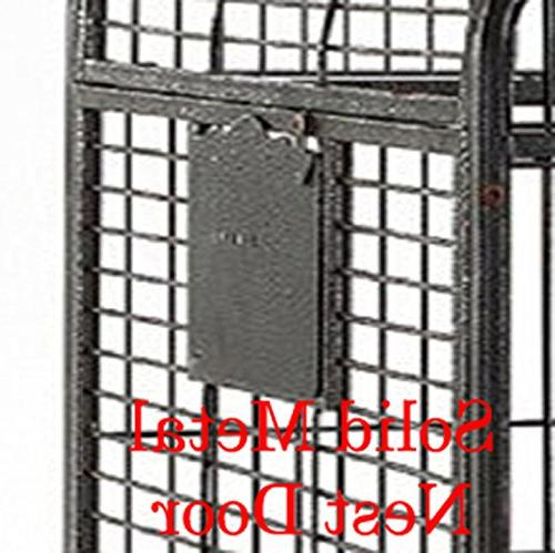 Large Play Double Ladders Cage, Include Metal Seed Guard and Top Vein*