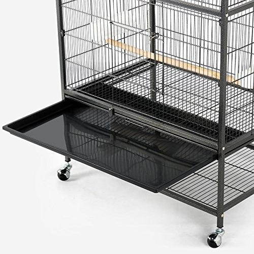 """Yaheetech 52"""" Standing Large Cage for African Quaker Amazon Parrots Sun Conures Pigeons Cage"""