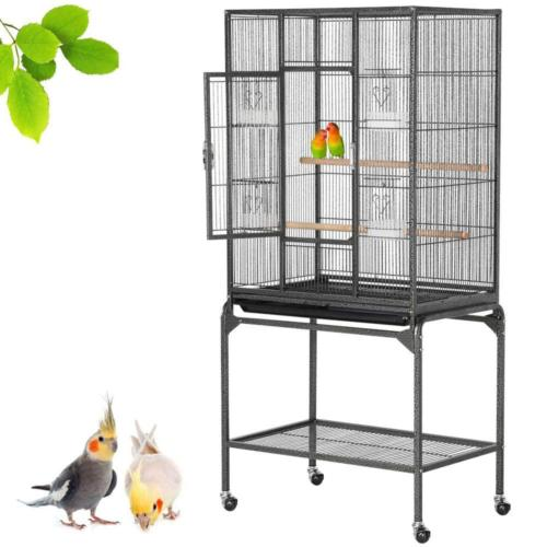 Yaheetech Wrought Iron Standing Large Bird Cage for African