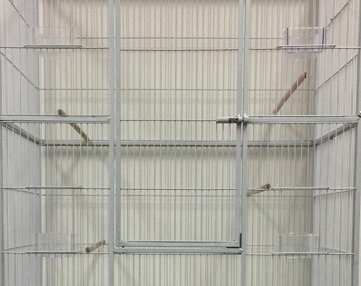 "LARGE 64"" Double Breeding Canary Cage With"