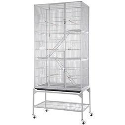 "32x18x69"" Large Ladder Bird Parrot Aviary Flight Breeding Co"