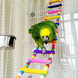 Mrli Pet Ladder Bird Toys for Bird Parrot Macaw African Grey