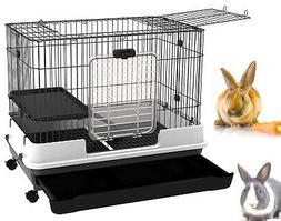 Large 2-Floor Indoor Small Animal Rabbit Bunny Hutch Cage Ca
