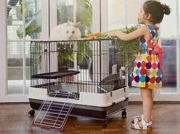 """Large 32"""" Indoor 2-Floor Guinea Pig Rabbit Bunny Ferret Kitt"""