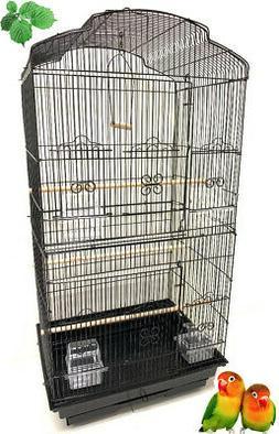 "Large 36"" Portable Bird Flight Cage Canary Aviary Parakeet L"