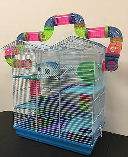 Large 5-Levels Twin Tower Syrian Hamster Habitat Mice Rats C