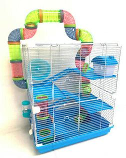 Large 5-Tiers Crossover Tunnel Syrian Hamster Habitat Rodent