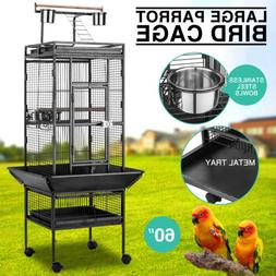 """Large 60"""" Parrot Bird Small Pet Cage Play Top Macaw Finch Co"""