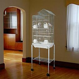 """Large 62"""" Large Bird Cage Stand Canary Parakeet Cockatiel Fi"""