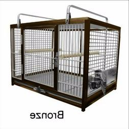 KINGS CAGES LARGE ALUMINUM PARROT TRAVEL CAGE ATM 2029 bird