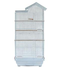 YAHEETECH LARGE BIRD CAGE, 591179 WHITE *DISTRESSED BOX