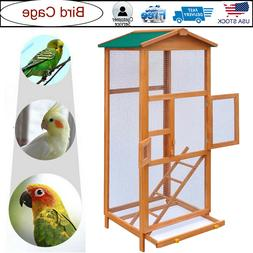 Large Bird Cage Nest Stand Flight Aviary Canary Parrot Cocka