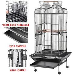 Large Bird Cage Parrot Parakeet Finch Play Top House Macaw C