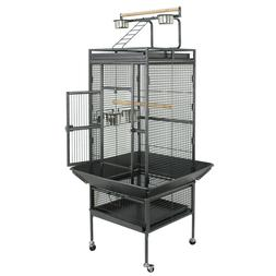 Large Bird Cage Play Top Bird Parrot Finch Cage Macaw Best P