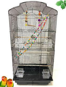 Large Bird Flight Cage Play Toy Canary Aviary Parakeet Cocka