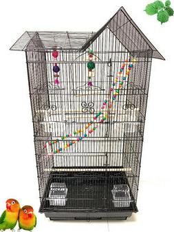 Large Bird Flight Cage With Toy Canary Aviary Parakeet Cocka