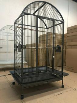 "Everila Large Bird Parrot Cage Dometop 36""x26""x65"" Macaw Afr"