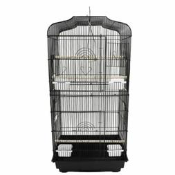 Large Bird Parrot Canary Cage W/Wood Perches Bird Toy Cages