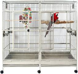 LARGE Double Macaw Parrot Cockatoo Bird Breeder Pet Cage w/