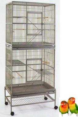 LARGE Double Stackable Bird Canary Budgie Cockatiel Lovebird