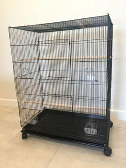 Large Flight Bird Cage With Stand On Wheels BRAND NEW