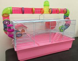 Large Long Crossing Tube Guinea Pig Hamster Rodent Gerbil Mo