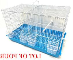 4 Stack and Lock Double Breeding Canary Aviary Bird Cages Dividers Combo Set
