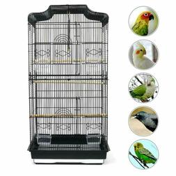 Large Metal Bird Cage Budgie Canary Parakeet Cockatiel Loveb