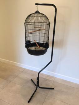 Large Round Dome Top Bird Cage With Hanging Stand BRAND NEW
