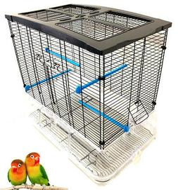 LARGE Sparkle Clear Bird Cage Aviary Canary Finches Parakeet