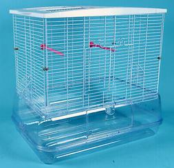 large sparkle clear bird cage aviary canary