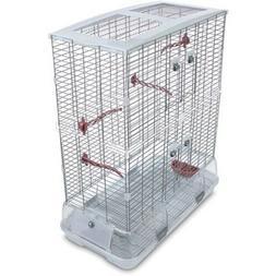 Large White Bird Cage Parrot XL Display Design 360 Vision Pl