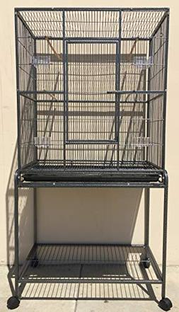 Mcage Large Wrought Iron Flight Breeding Canary Parakeet Coc