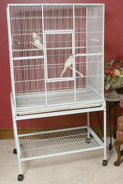 Mcage Large Wrought Iron Flight Canary Parakeet Cockatiel Lo