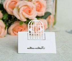 Laser Cut Birdcage Wedding Name Place Cards Table Cards,For