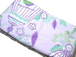 Pottery Barn Kids Lavender Purple Bird Cage Floral Full Quee
